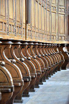 Cathedral, Meaux, France, Bench, Chair, Religion