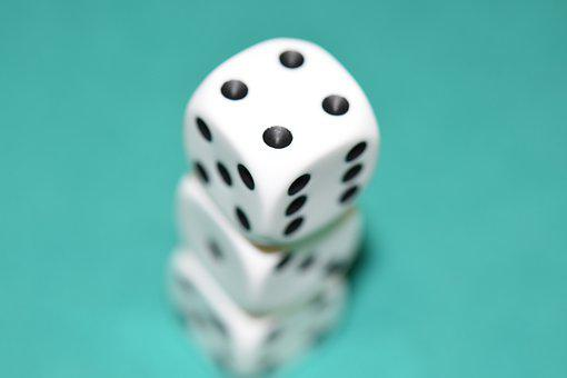 Of, Dice Games, Number Four, Game Of Chance, Black