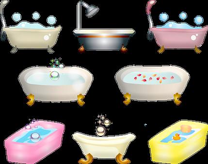 Bathtub, Bath, Bubbles, Shower, Rose Petals