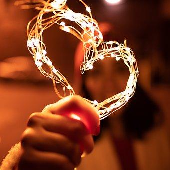 Light-string, Night, Dark, Lights, Celebration, Xmas