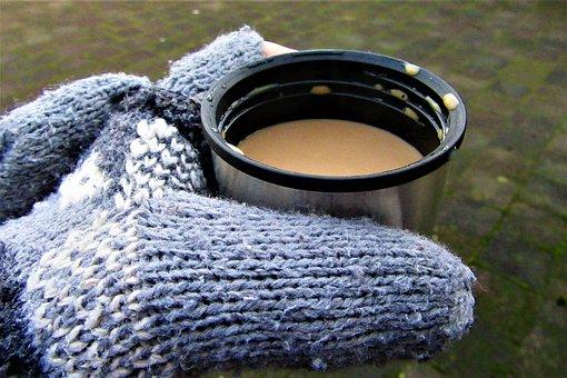 Cold, Coffee, Gloves, Winter, Season, Hot, Morning