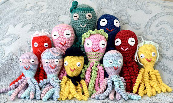 Toys, Soft, Octopus, Family, Happy, Tentacles, Cuddly