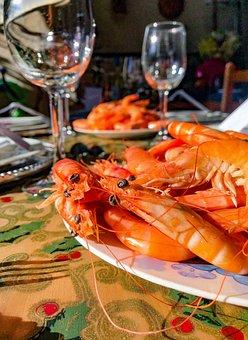Dinner, King Prawns, Kitchen, Festive, Christmas
