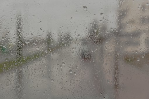 Rain, Out Of Focus, Blurred, Glass, Drops, Window
