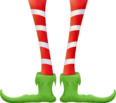 Elf Legs, Elf, Imp, Christmas Elf, Legs, Christmas
