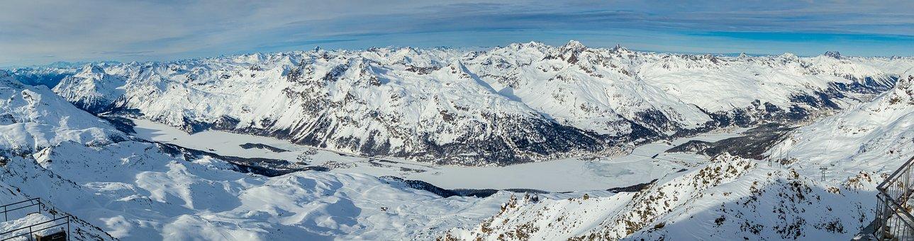 Engadin, Panorama, Switzerland, Alpine, Graubünden