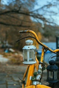 Bicycle, Bokeh, Bike, Cycling, Old, Handle, Lights