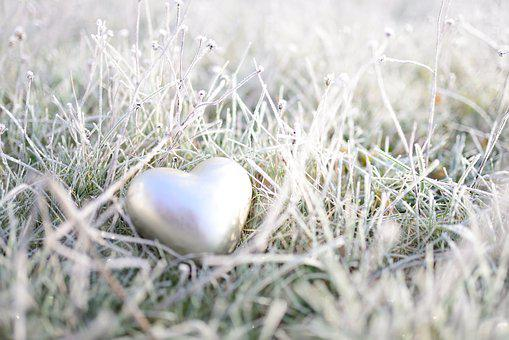 Hoarfrost, Heart, Frozen, Winter, Frost, Love