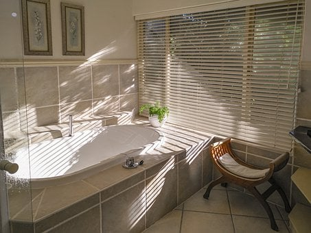 Bathroom, Interior, Incidence Of Light, Window, Mood