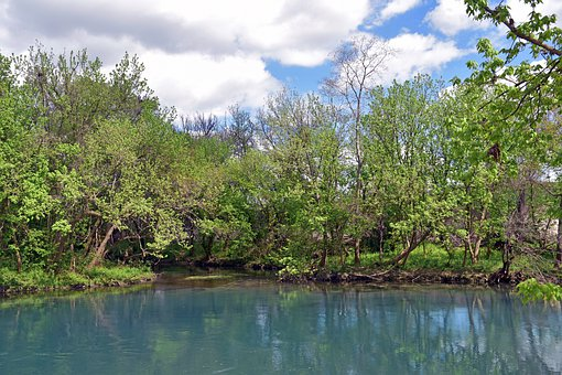 Texas, Scenic, Landscape, Waterscape, River, Nature