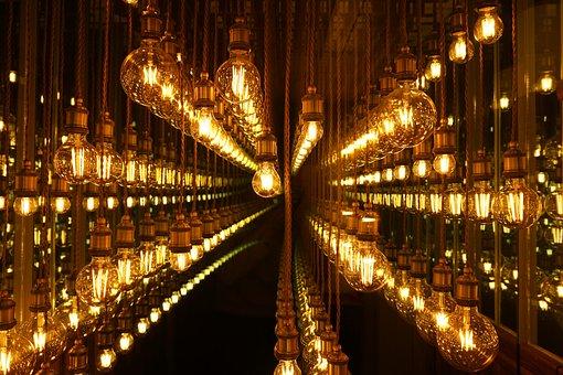 Bulb, Light, Mirror, Lamp, Lighting, Lights, Brown Lamp