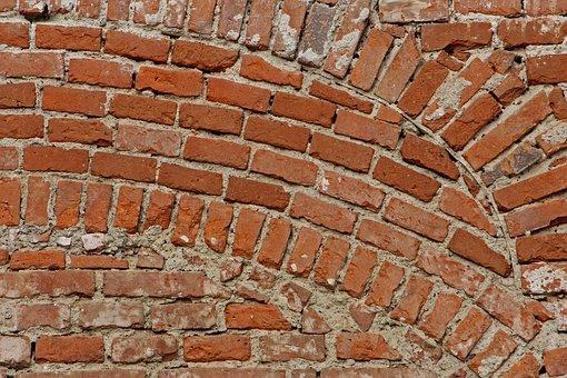 Brick Wall, Wall, Old, Brick, Masonry, Structure