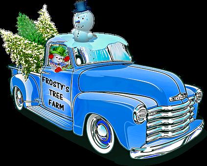 Christmas Truck, Melting Snowman, Christmas Cars