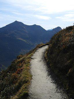 Away, Mountains, Path, Hiking, Curve