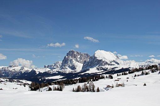 Sassolungo, Plattkofel, Seiser Alm, Schlern, Dolomites