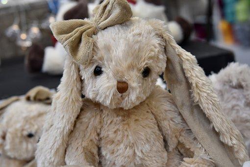 Plush, Plush Rabbit, Toy Child, Sweetness, Toy Hug