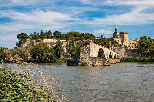 Pont Saint Bénézet, Rhône, Bridge, River, Riverside