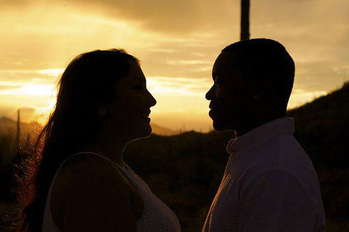 Love, Marriage, Engagement, Couple, Sunset, Romantic