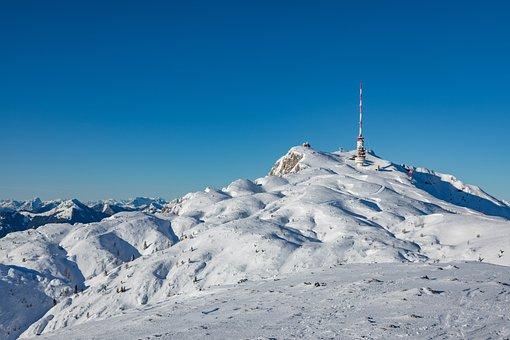 Dobratsch, Mountains, Snow, Summit, Austria, Carinthia