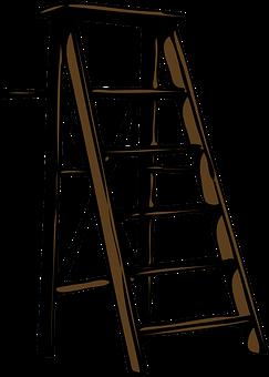 Ladder, Wood, Step, Steps, Tool, Brown, Staircase
