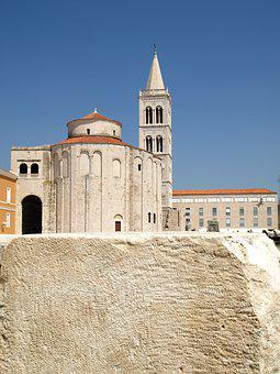 Zadar, Croatia, Stone, Summer, Tourism, Travel, Church