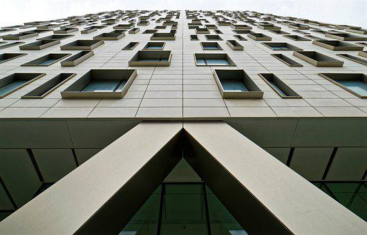 Building, High, Almost, The Angle, Small, Facade