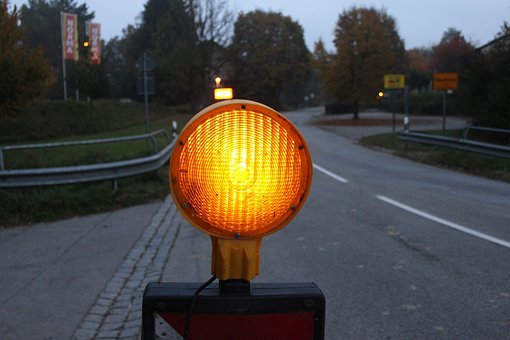 Lamp, Signal, City, Road, Night, Landmark, Traffic