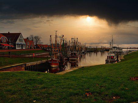 Greetsiel, Port, Vacations, Fishing Port, Boats