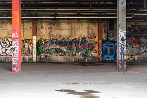 Graffiti, Warehouse, Pforphoto, Abandoned, Architecture