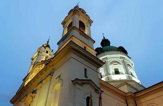 Church, The Towers, Cross, Building, Architecture