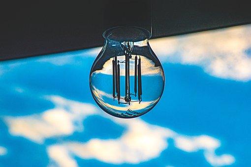 Lightbulb, Sky, Light, Energy, Bulb, Nature, Bright