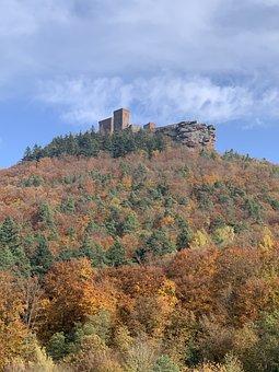 Castle, Autumn, Landscape, Nature, Building