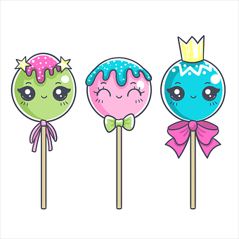 Lollipop, Candy, Sweets, Wink, Cute, Children's, Star