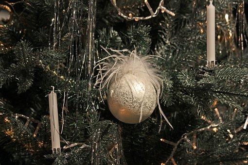 Christmas Tree, Christmas Balls, Candles, Christmas
