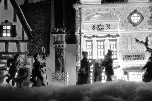 Christmas, Village, Dickens, Holiday, Decoration, Scene