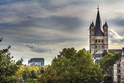 Koln, Cologne, Germany, Köln, City, Nature, Sky