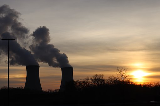 Nuclear Power Plant, Cooling Tower, Sunset, Electricity