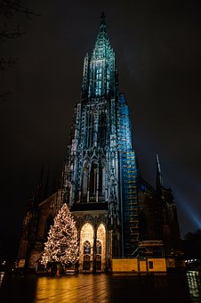 Münster, Church, Dom, Christmas, Architecture, Building