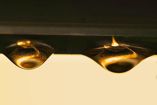 Lights, Drip, Liquid, Macro, Gold, Water, Close Up