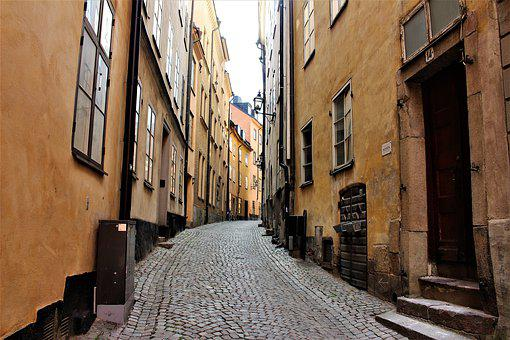 Alley, Buildings, Architecture, Facade, House, City