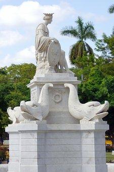Cuba, Havana, Goddess, Statue, Symbol, Figure, Monument