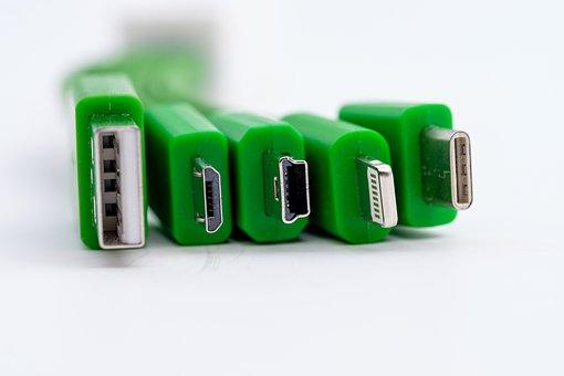 Usb, Connection, Plug, Cable, Hardware, Communication