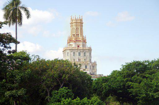 Cuba, Havana, Building, Crown, Tower, Urban, Travel