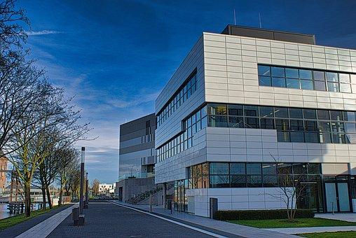 College, Kleve, Niederrhein, Modern, Architecture, Sky