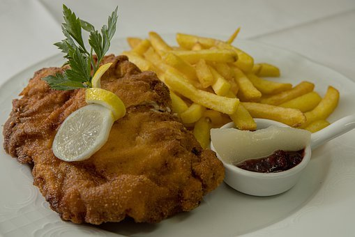 Cordon Bleu, French Fries, Eat, Lunch, French
