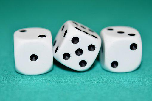 Games Dice, Of, Cube, Statistics, Color Black And White