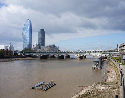 London, Thames, Bridge, Capital, Sky, Tower, River