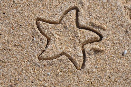 Starfish, Star Shape, Beach, Sand, Shape, Holiday