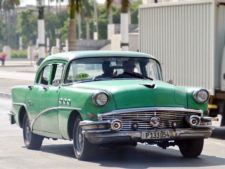 Cuba, Rattletrap, Car, Américcaine, History, Traffic