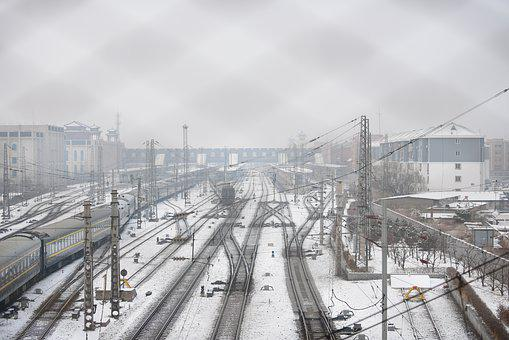 Railway, Snow, Train, Travel, Train Station, Cold